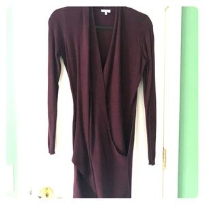 Tobi Dresses - Purple sweater wrap dress